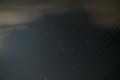 ISO400 露出50s でオリオン座 左側に明るい月があり