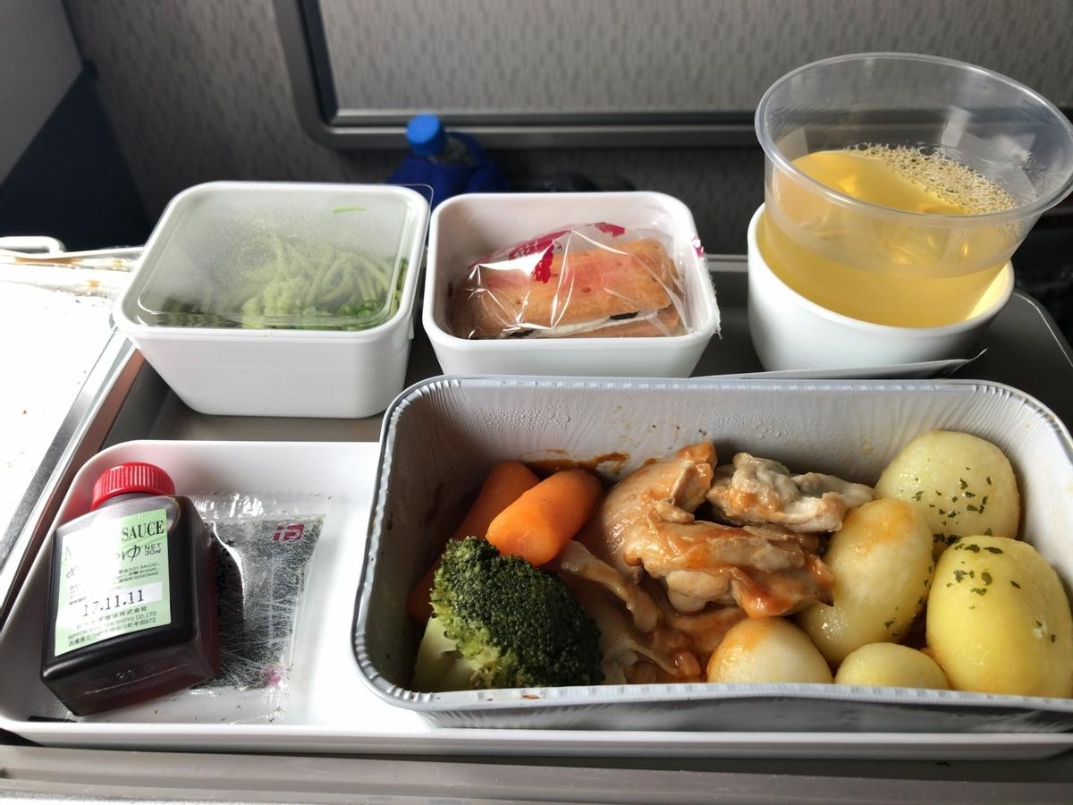 チャイナエア 機内食