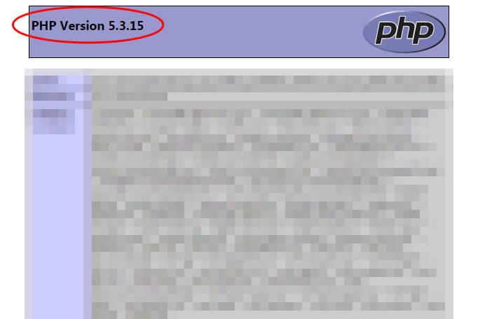 サーバーのPHPのバージョン情報