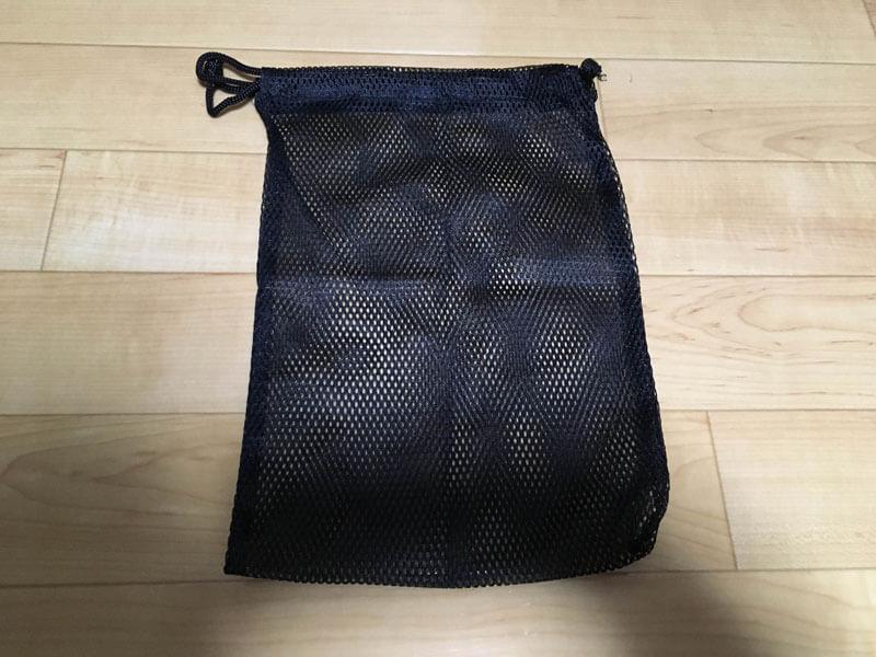 メッシュの旅行用収納袋