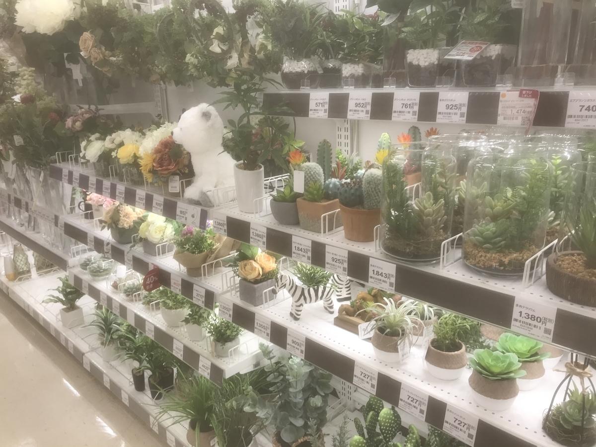 本物の観葉植物のようですが造花です