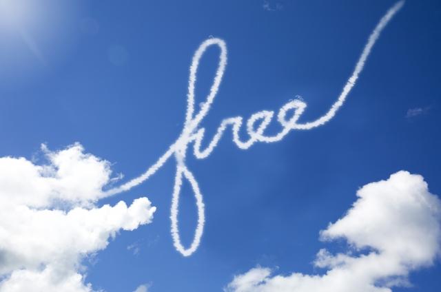 自由な空と希望の光