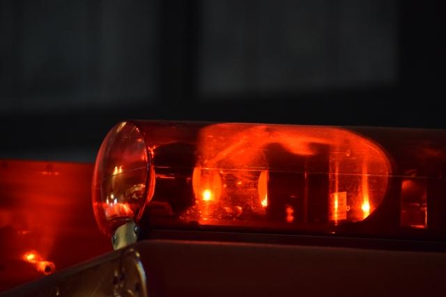 赤色灯が点灯