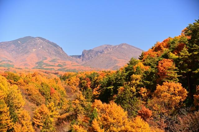 紅葉の浅間連山