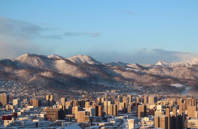 北国札幌の冬景色