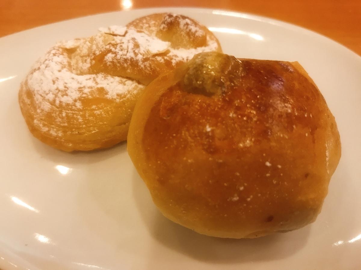 アーモンドパンとレーズンパン