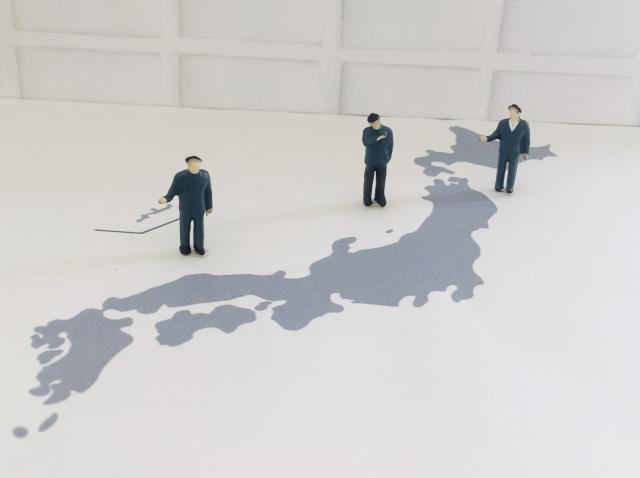 日本地図+人々