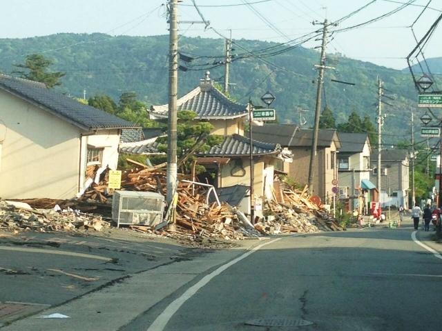 熊本地震で被災した家屋