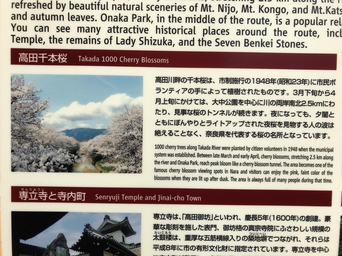 「高田千本桜」の看板