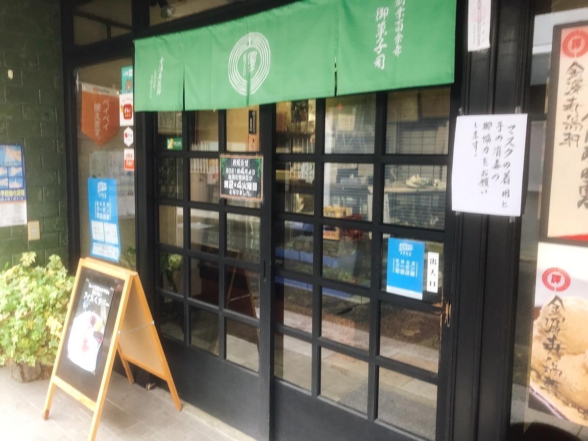 「御菓子司 金澤寿翁軒」の入口