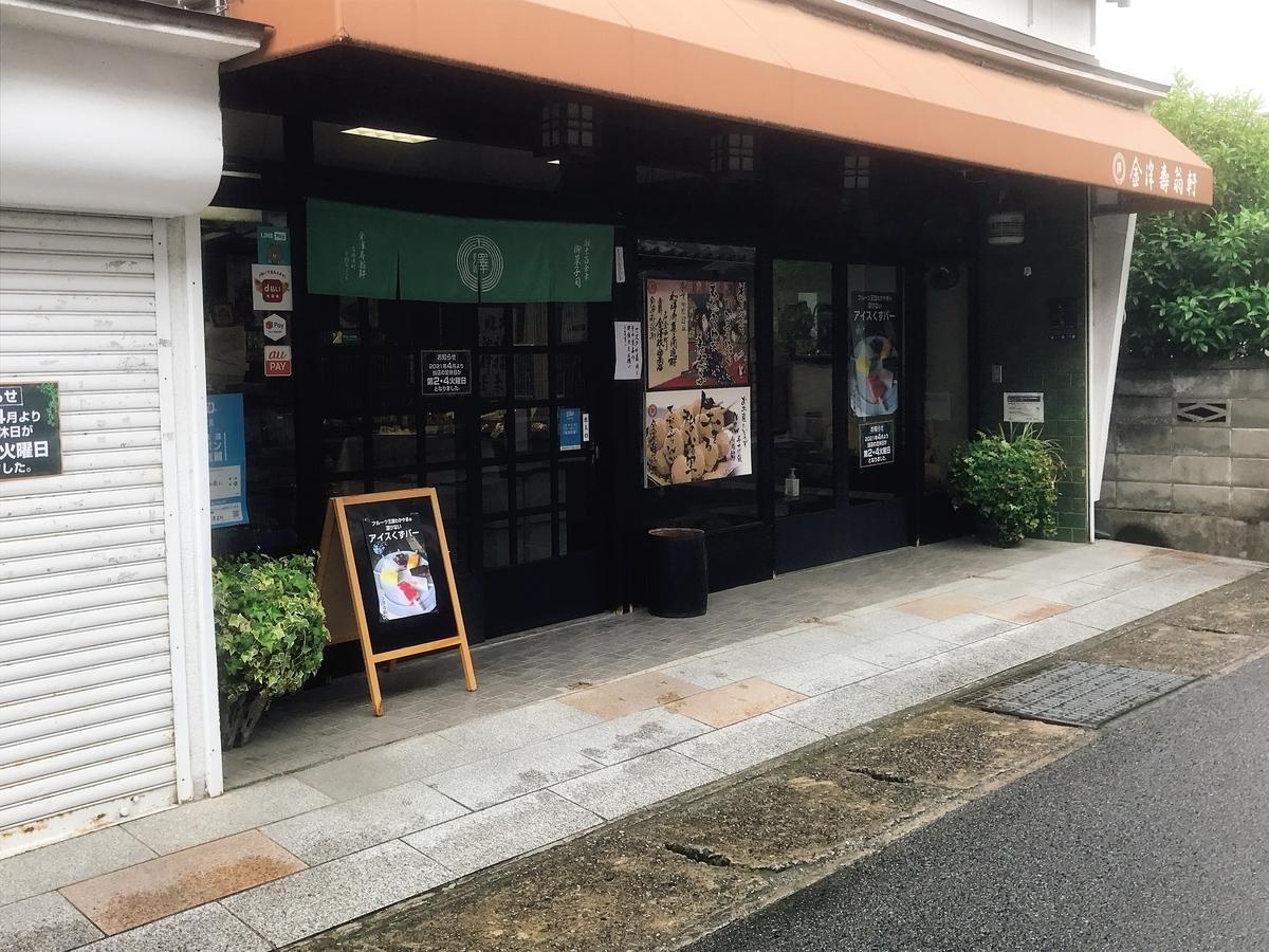 「金澤寿翁軒」の入口