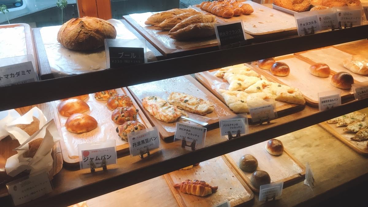 「ベイクハウス キギ」の店内のパン
