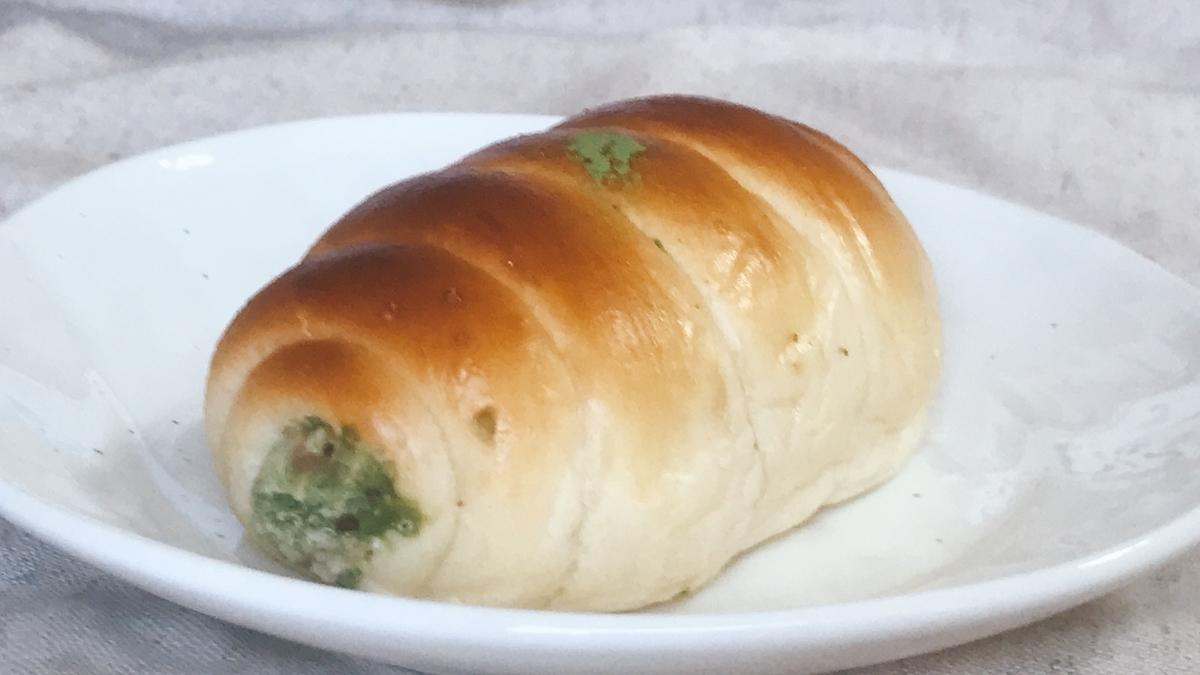 「抹茶クリームパン」