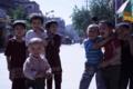 中国ウィーグル自治区の子供たち(カシュガル)