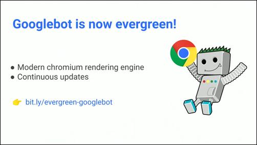 Googlebot は最新バージョンの Chrome レンダリングエンジンを利用していく