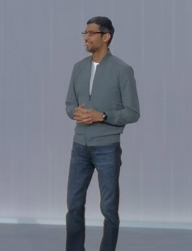 Google I/O 2019 キーノートに登壇した CEO・Sundar Pichai氏