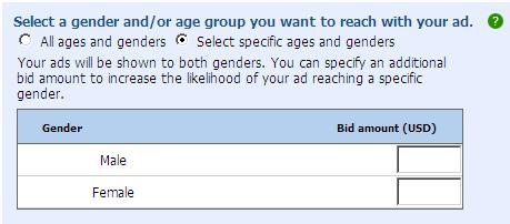 年齢によるリスティング広告のターゲティング