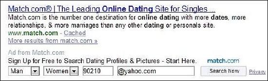 Yahoo! Cost Per Lead Ad Format