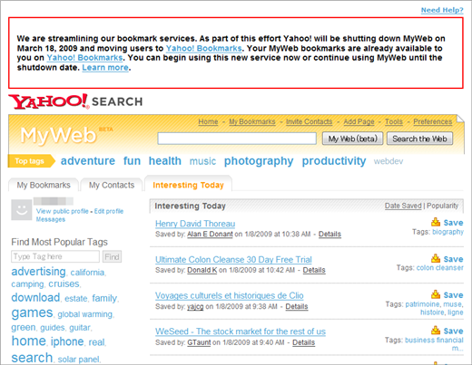 Yahoo! MyWeb