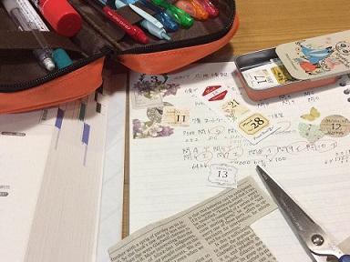 まだノート作り法を模索していた頃。モチベアップのためにデコっていました。