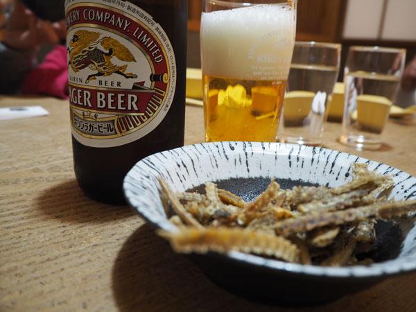 ナンコツの唐揚げとビール