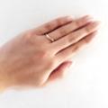 [指が綺麗に見える指輪]