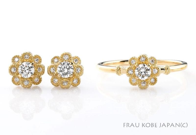 [ルクアイーレ][ネックレス][指輪][ピアス][リング][人気][プレゼント][贈り物][お花][新作]