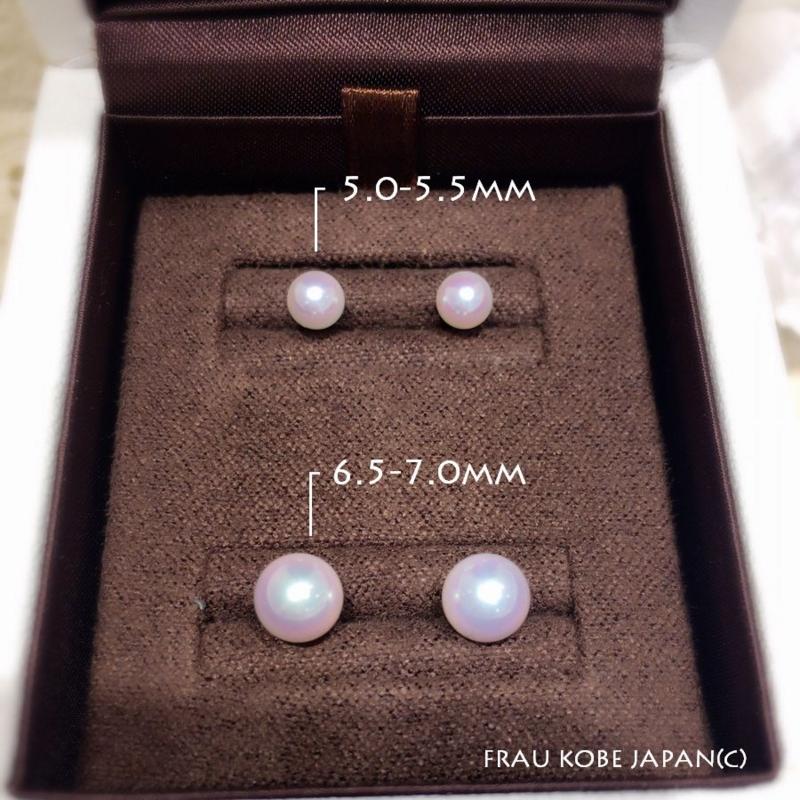 [大阪][梅田][ルクアイーレ][アコヤ][真珠][パール][プレゼント][贈り物][フラウ][ピアス]