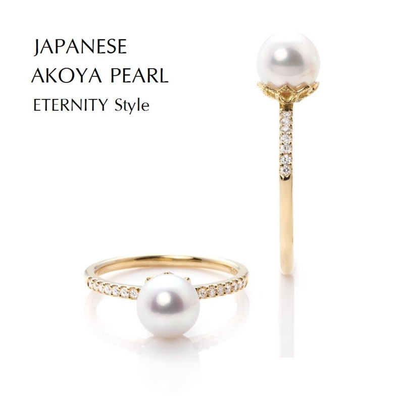 [Pearl][ring][gold][fashionable]
