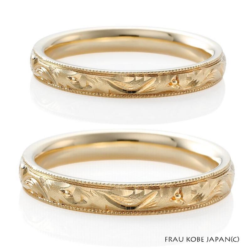[大阪][梅田][ルクアイーレ][ブライダル][結婚指輪][マリッジリング][アンティーク][ゴールド][フラウ]