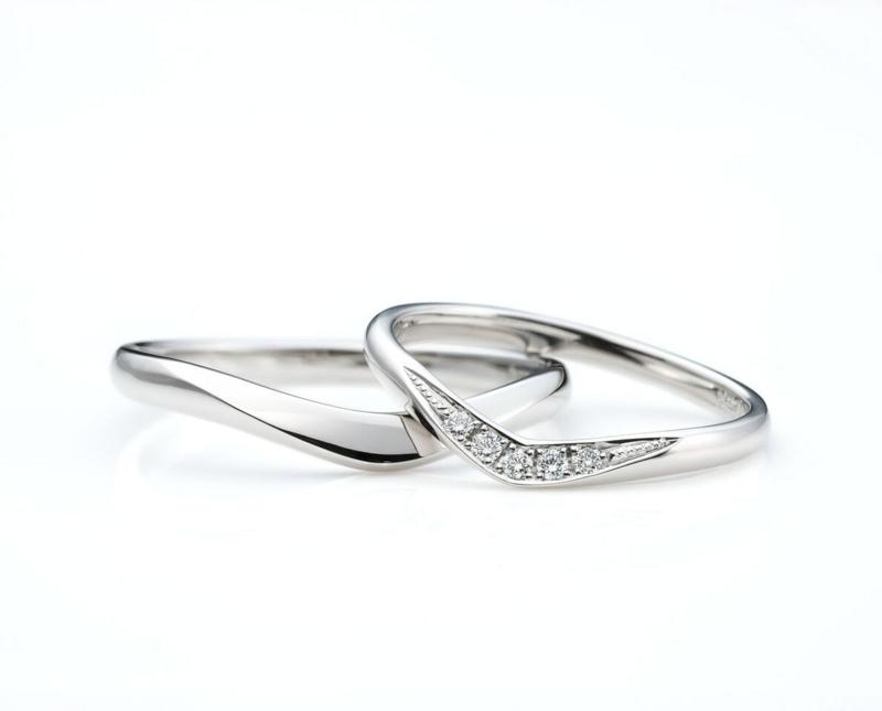 [香川][結婚指輪][婚約指輪][プロポーズ][V字]