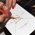 金魚 デザイン画 サマージュエリー ネックレス
