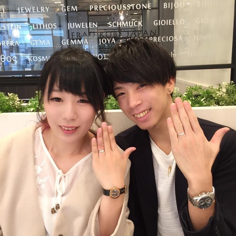 [幸せカップル][結婚指輪][婚約指輪][セットリング][高松][ブライダルリング]