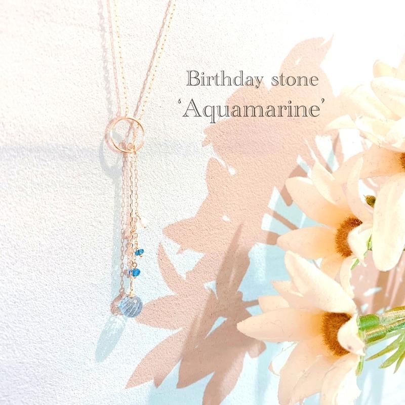 [3月誕生日][アクアマリン][バースデープレゼント][ネックレス][高松]