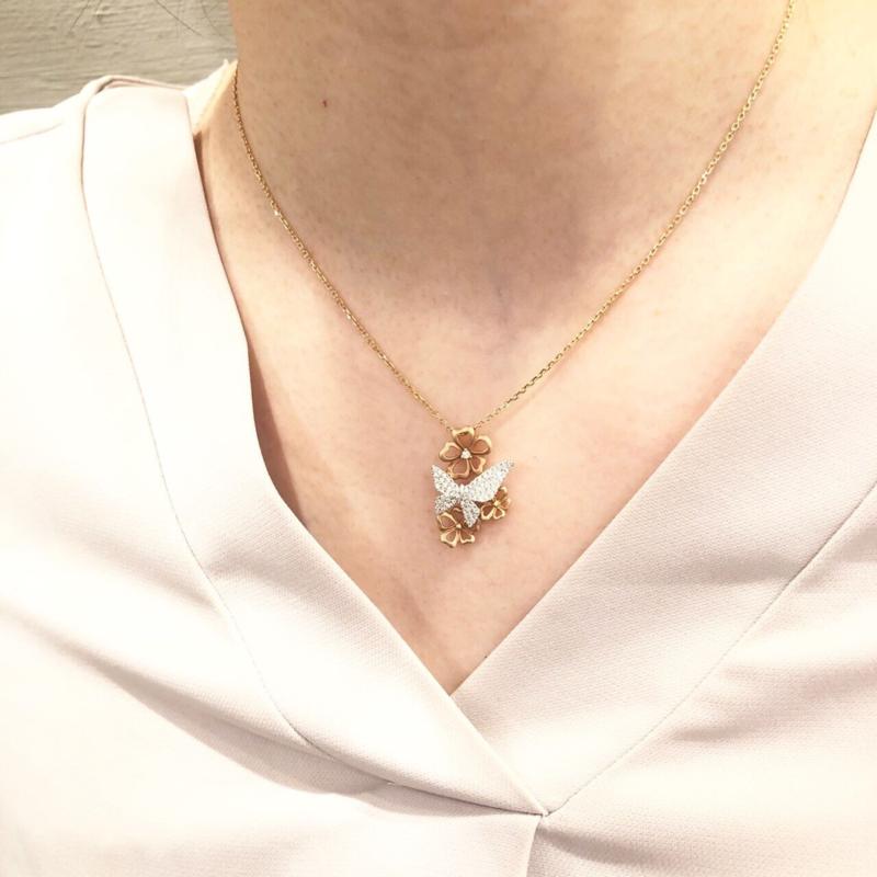 [ネックレス][リング][蝶々]