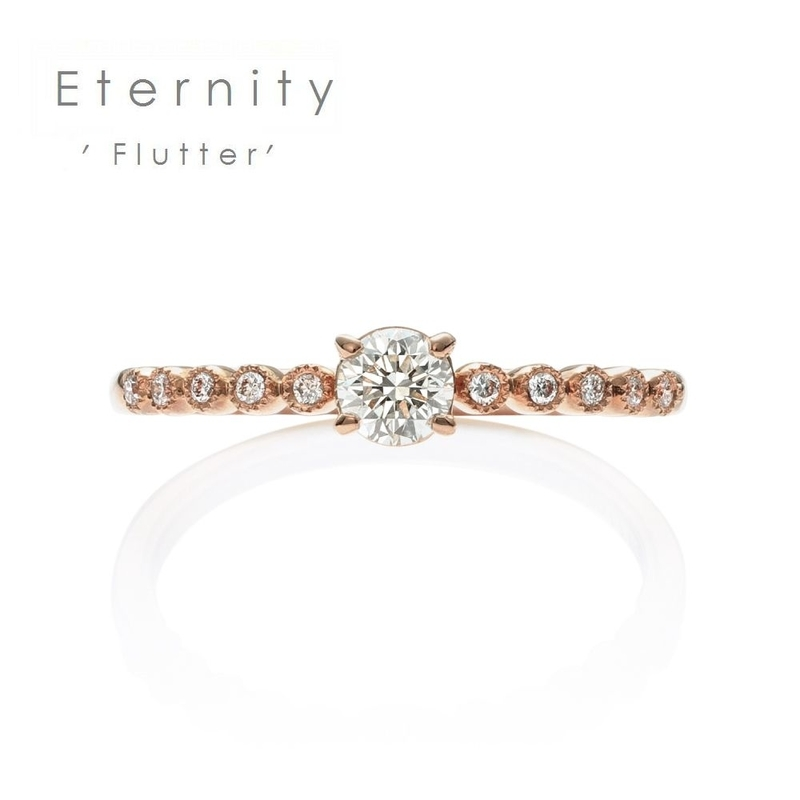 [flutter][fluttering][eternity][bridal][jewelry][婚約指輪][エタニティリング][ダイアモンド]