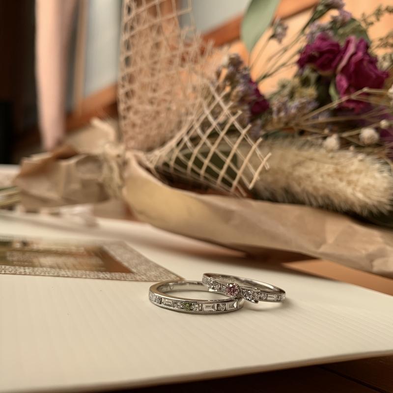 [婚約指輪][ピンクダイヤモンド][エンゲージリング][リボン][お返し][フラウコウベ]