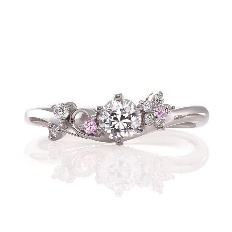 [さくら][春限定][婚約指輪][ウェディング]