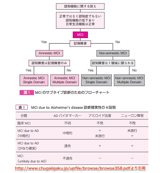 MCI診断のフローチャート