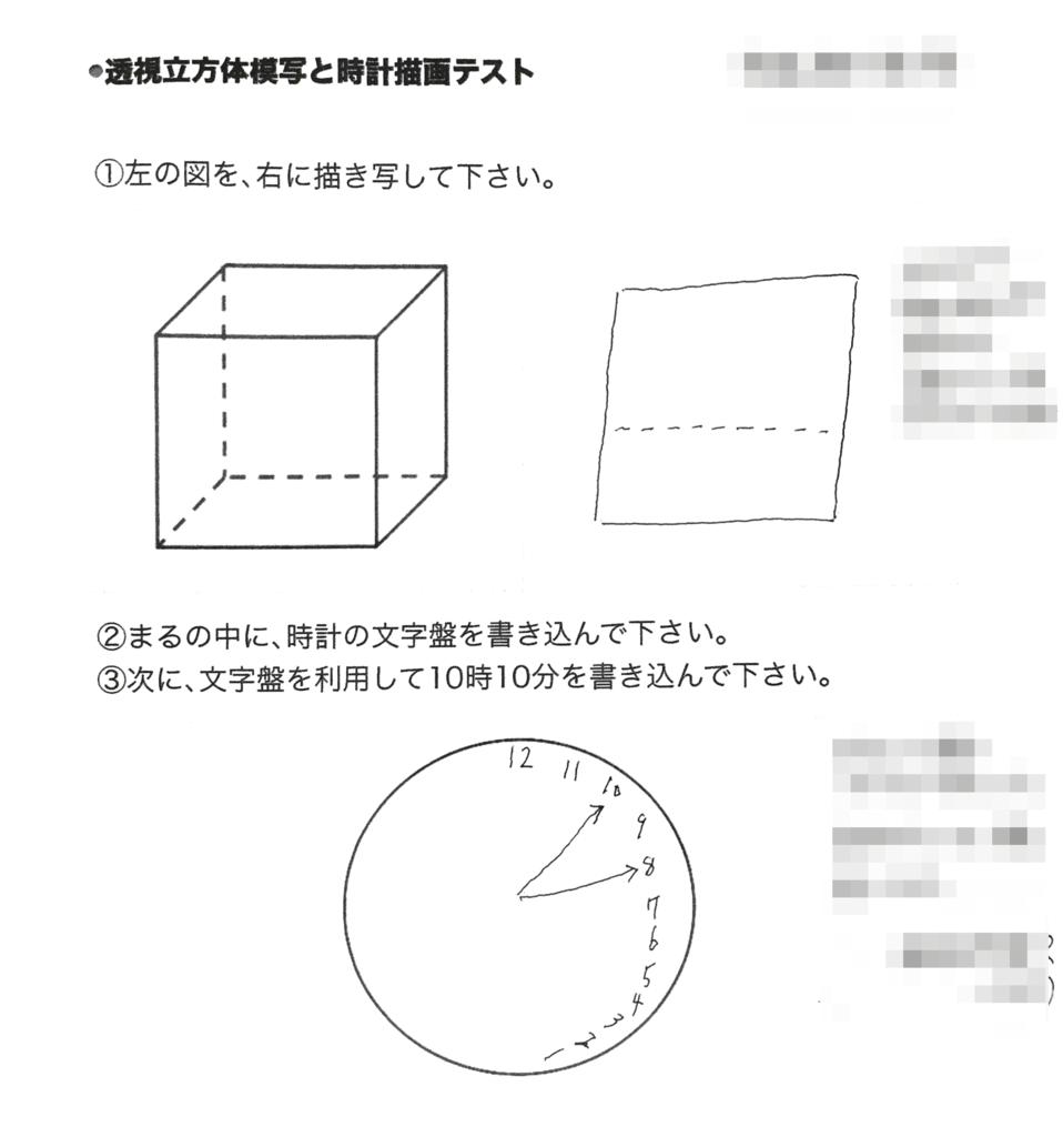 ATDの透視立方体模写と時計描画テスト