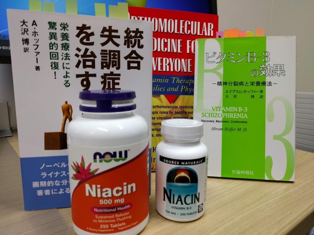統合失調症 ナイアシン