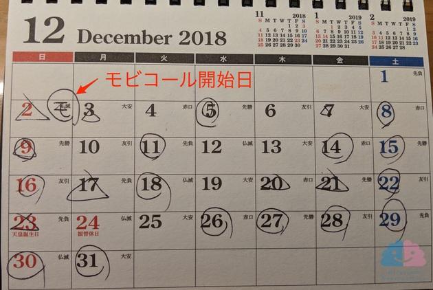 モビコール 便秘カレンダー