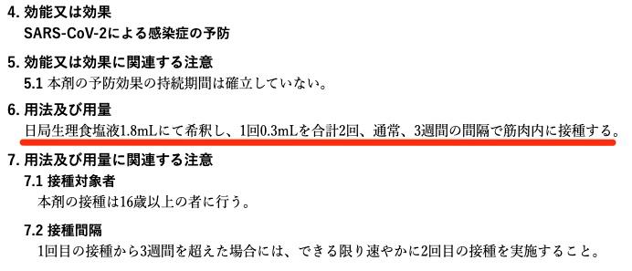 コロナワクチンの摂取量が、日本人と外国人で同じ