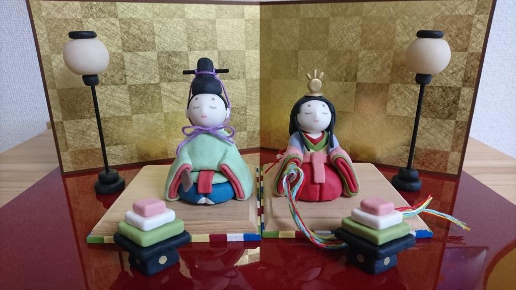樹脂粘土の手作り雛人形