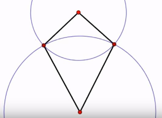 ふたつの円とふたつの三角形