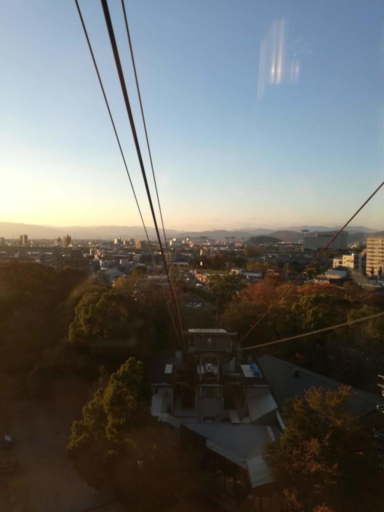 岐阜城のロープウェイ