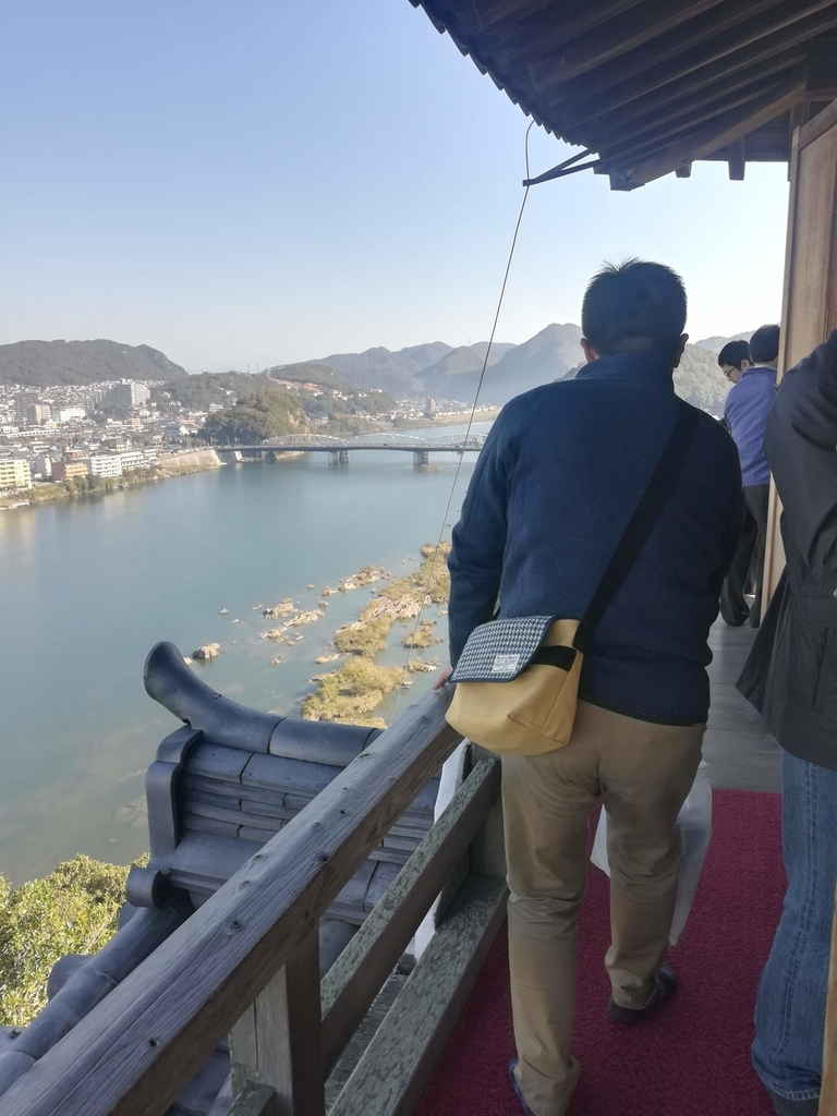 犬山城天守閣の眺望