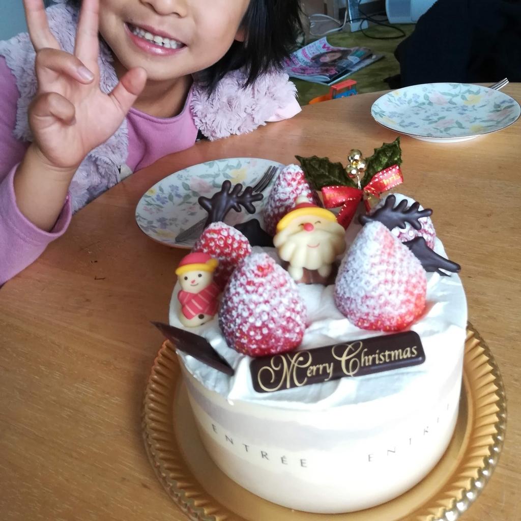 アントレのケーキは子どもにとても喜ばれる