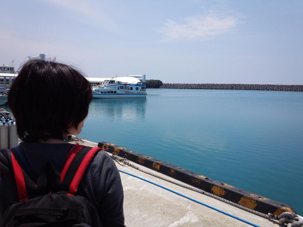 久高島のフェリー