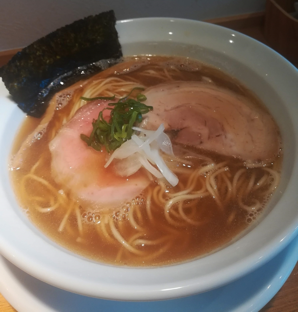 うしおととり(太田市)の煮干しそば780円